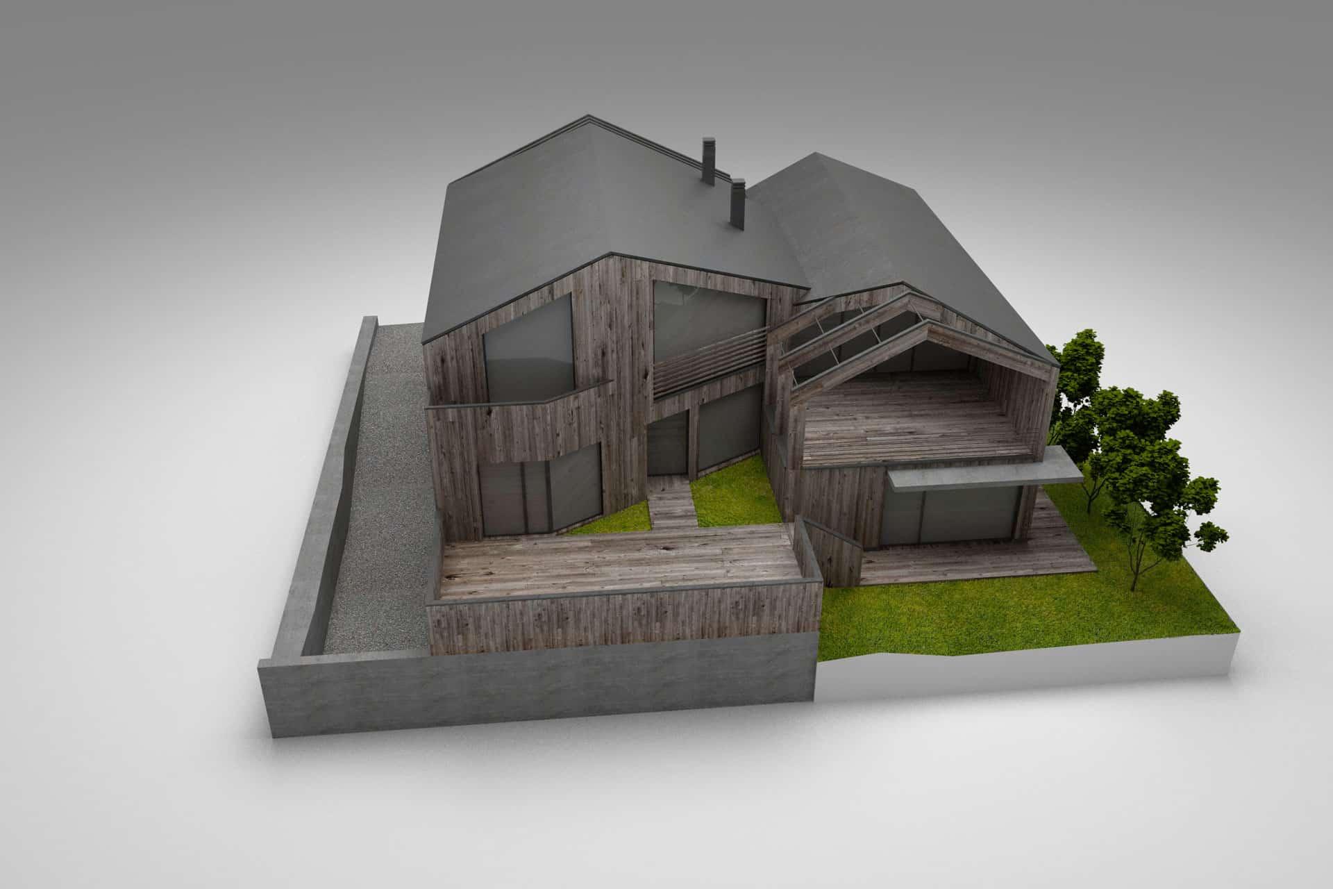 3d-Visualisierung Haus Dorf, Neu ab Sommer 2018