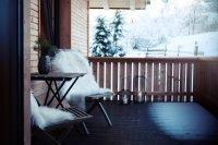 Sitzgelegenheit Terrasse Haus Wald